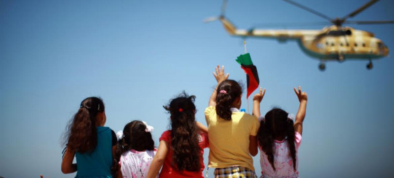 Programa de proteção social para a Líbia. Foto: Iason Athanasiadis/Unsmil