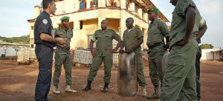Polícia da ONU na República Centro-Africana. Foto: Minusca