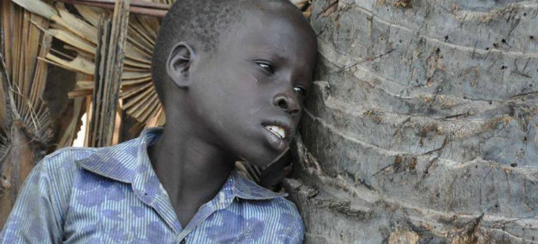 Menino sudanês. Foto: Ocha