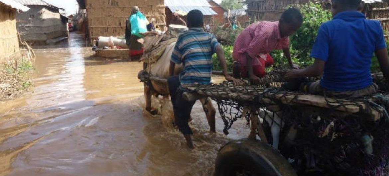 Inundações na Somália. Foto: Ocha
