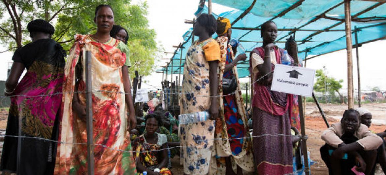 Deslocados internos em Juba, Sudão do Sul. Foto: ONU/JC McIlwaine