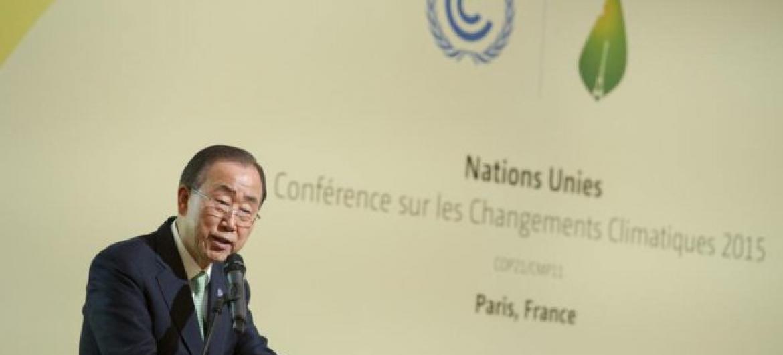 Ban Ki-moon destaca oportunidade única para definir o destino da humanidade. Foto: ONU/Rick Bajornas