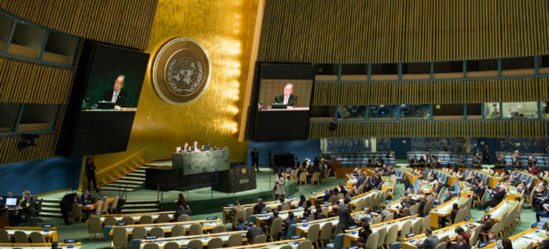 Assembleia Geral da ONU. Foto: ONU/Rick Bajornas