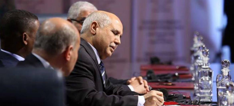 Assinatura do Acordo Político da Líbia em Skhirat. Foto: Unsmil