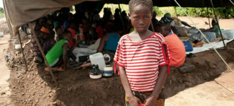 Assentamento para crianças malauianas. Foto: Unicef