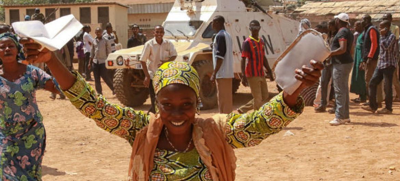 Votação em Bangui, República Centro-Africana. Foto: Minusca