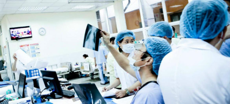 Plataforma da OMS quer evitar ataques a trabalhadores de saúde. Foto: OMS