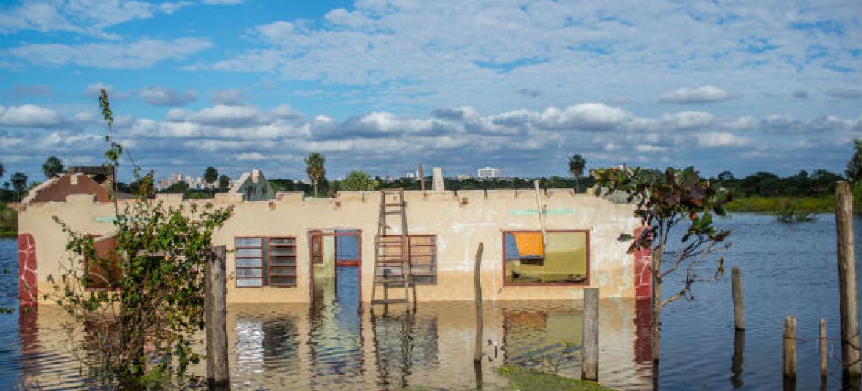 Cheias no Paraguai. Foto: Unicef/ Martin Crespo
