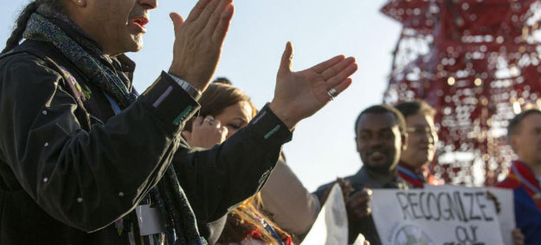 Ban Ki-moon espera que com o acordo haja uma redução dos impactos das mudanças climáticas. Foto: Unfccc