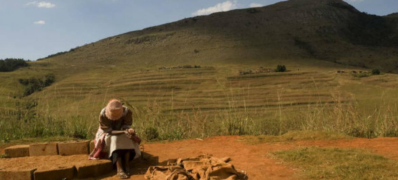 No Lesoto ocorrem chuvas reduzidas. Foto: FAO