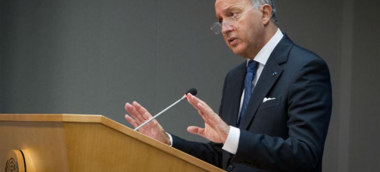 Laurent Fabius é ministro francês das Relações Exteriores e presidente da COP21. Foto: ONU/Loey Felipe