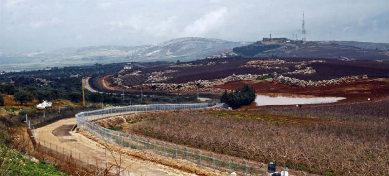 Linha Azul, entre Líbano e Israel. Foto: Hugh Macleod/Irin