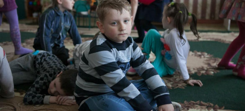 Crianças ucranianas. Foto: Unicef/Aleksey Filippov