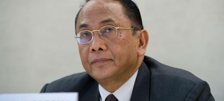 Makarim Wibisono, relator especial sobre a situação de direitos humanos nos territórios palestinos. Foto: ONU/Violaine Martin