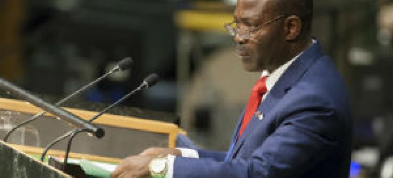 Presidente-cessante do Processo Kimberley fala na Assembleia Geral. Foto: ONU/Loey Felipe