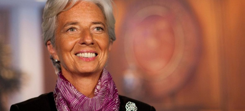 Lagarde destacou desafios da queda dos preços do petróleo e aumento nas perturbações relacionadas à segurança. Foto: FMI.