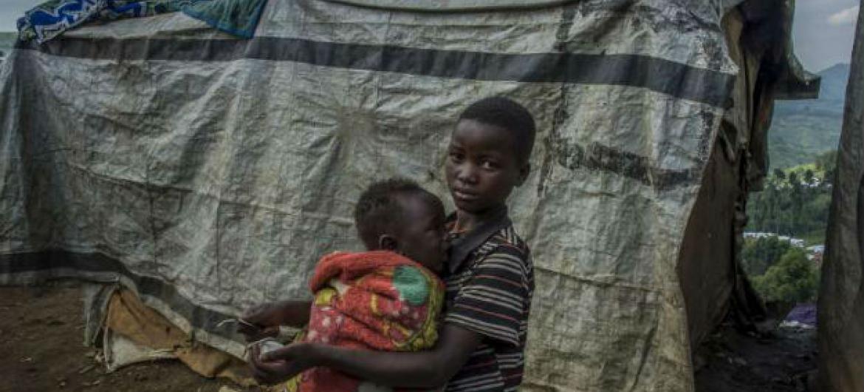 Deslocados internos em Kivu do Norte. Foto: Acnur/F.Noy