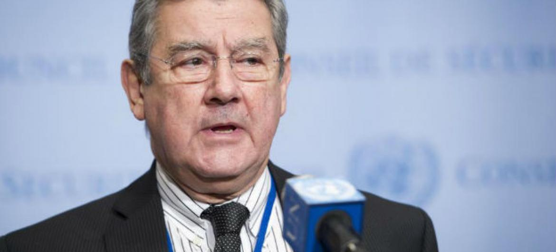 Embaixador do Uruguai, Elbio Rosselli. Foto: ONU/Rick Bajornas