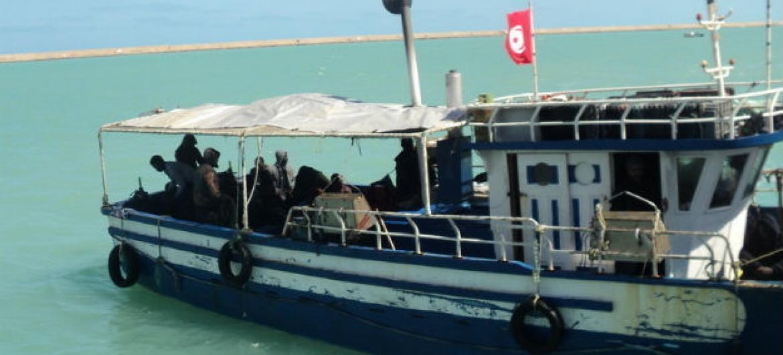 OIM relata aumento de incidentes ao largo da costa da Líbia.Foto: OIM/Jennifer Sparks