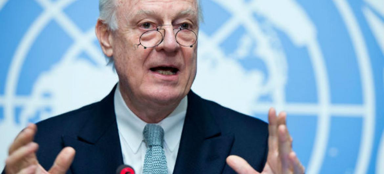 Enviado especial das Nações Unidas para a Síria, Staffan de Mistura. Foto: ONU/Jean-Marc Ferré