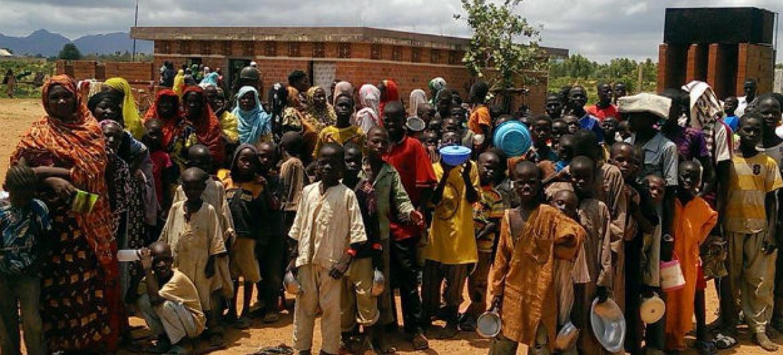 Milhares de deslocados devido à violência do grupo Boko Haram. Foto: Ocha