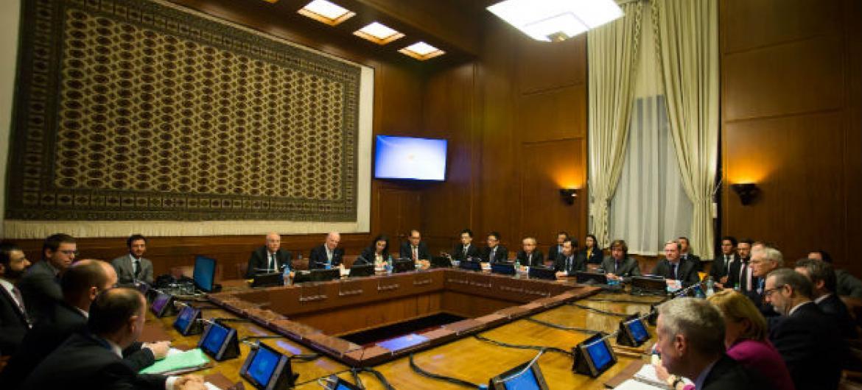 O enviado especial da ONU para a Síria, Staffan de Mistura, se reuniu esta quarta-feira com os cinco membros permanentes do Conselho de Segurança, em Genebra. Foto: ONU