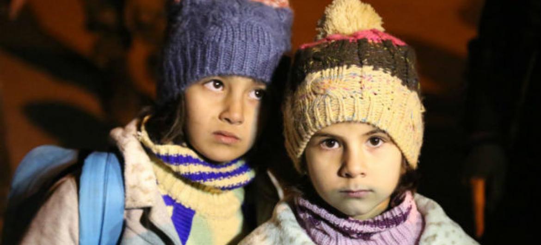 Crianças sírias em Madaya. Foto: Unicef/Al Saleh