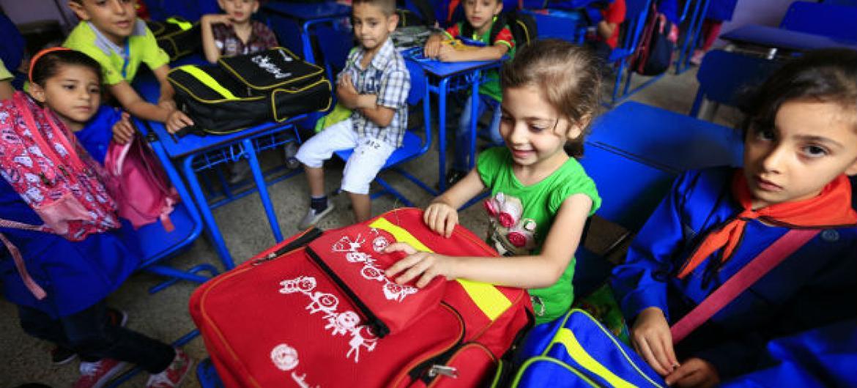 Escola primária na cidade de Homs, Síria. Foto: Unicef/Sanadiki