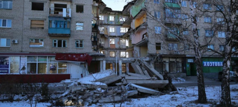 Mykolaivka, na região de Donetsk, na Ucrânia. Foto: PMA/Abeer Etefa (arquivo)