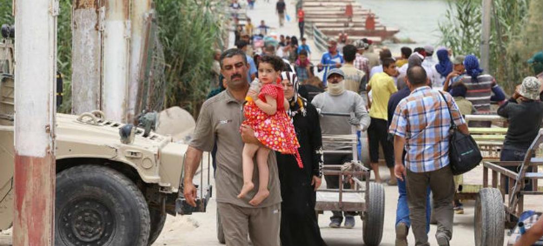 Mais de 3 milhões de pessoas foram forçadas a fugir de suas casas no Iraque desde janeiro de 2014.Foto: Unami