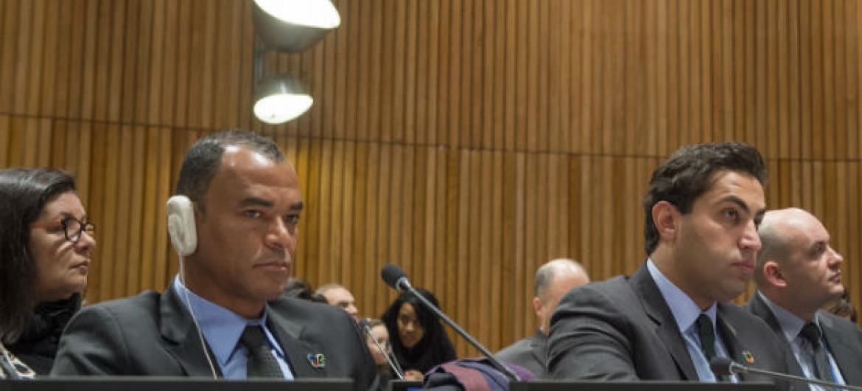 Cafú no Conselho de Tutela das Nações Unidas. Foto: ONU/Eskinder Debebe