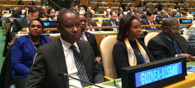 Geraldo João Martins na Assembleia Geral da ONU. Foto: Rádio ONU