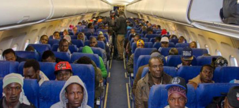 Migrantes retornam a seus países de origem com ajuda da OIM. Foto: OIM Trípoli 2016 (arquivo)