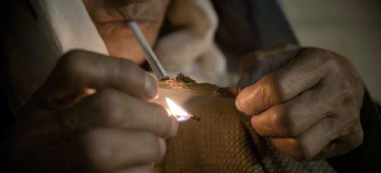 Usuário de drogas no Afeganistão. Foto: Unodc/A.Scotti