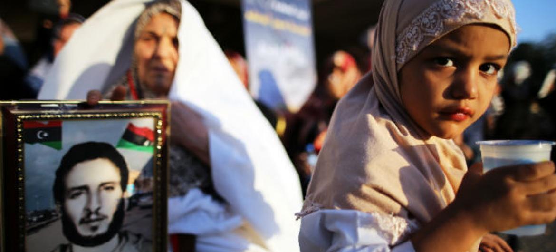 Menina em Trípoli, na Líbia. Foto: ONU/Iason Athanasiadis