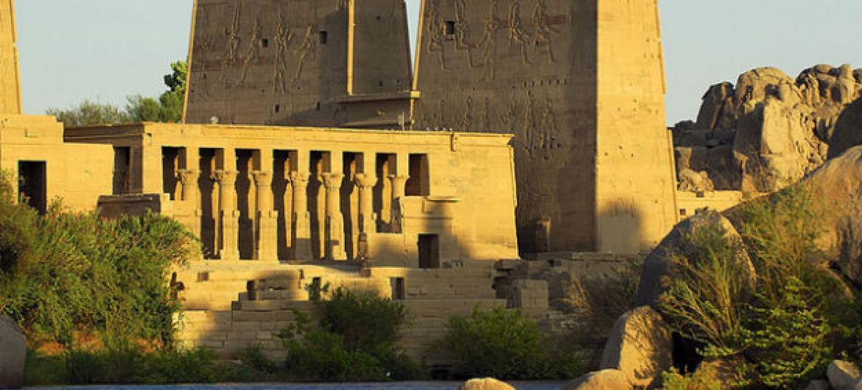 Templo Philae, em Aswan, no Egito. Foto: OMT
