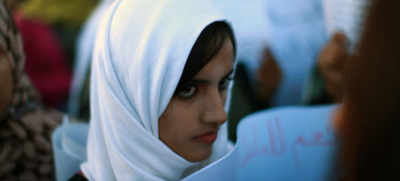 Mulher em Trípoli, na Líbia. Foto: ONU/Iason Foounten (arquivo)