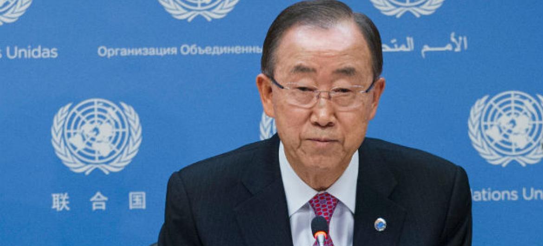 Secretário-geral da ONU, Ban Ki-moon. Foto: ONU/Amanda Voisard