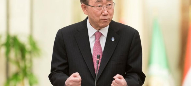 Secretário-geral da ONU, Ban Ki-moon. Foto: ONU/Mark Garten.