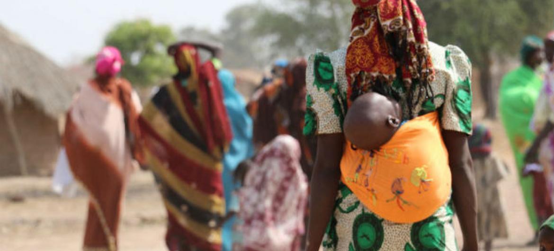 População centro-africana desalojada. Foto: Ocha/Gemma Cortes