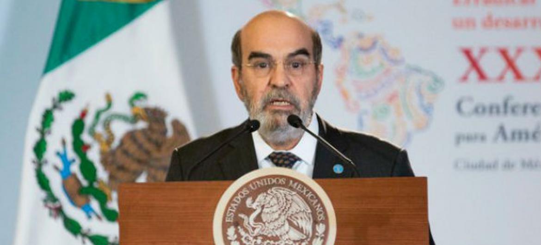 José Graziano da Silva discursa em conferência no México. Foto: FAO