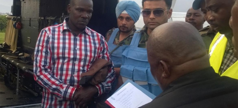 Ladislas Ntaganzwa (à esq.) foi preso na República Democrática do Congo em dezembro de 2015. Foto: Mecanismo da ONU para Tribunais Penais Internacionais