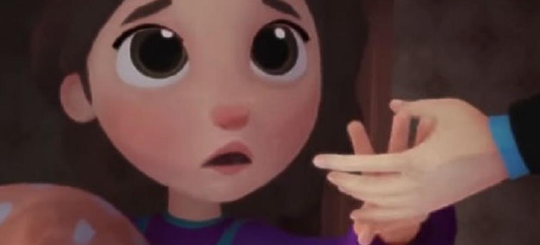 """Reprodução do vídeo """"Ivine e o Travesseiro""""."""