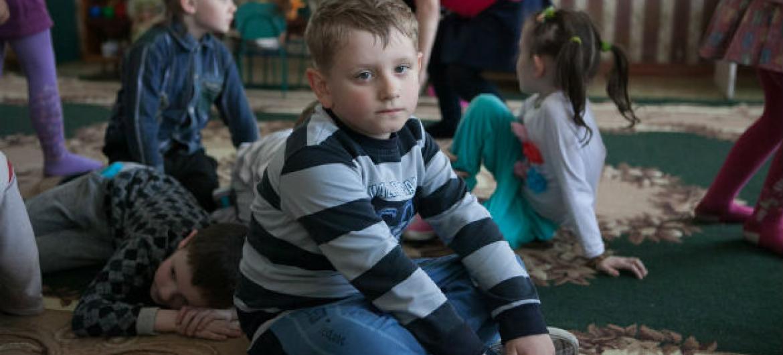 Crianças em Donetsk, na Ucrânia. Foto: Unicef/Aleksey Filippov
