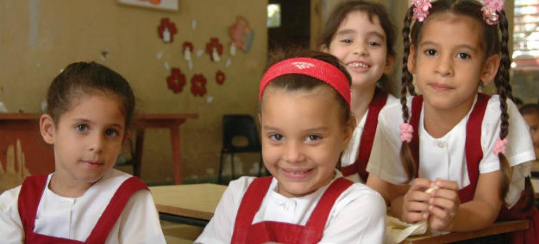 Quase 16 milhões de meninas entre seis e 11 anos de idade nunca terão a oportunidade de ir à escola.Foto: Unicef Cuba