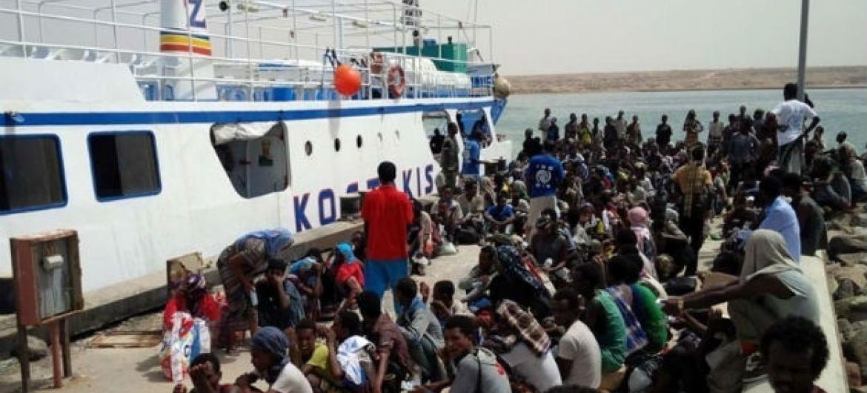 Etíopes são a maioria dos recém-chegados ao Iémen. Foto: OIM 2015 (arquivo)