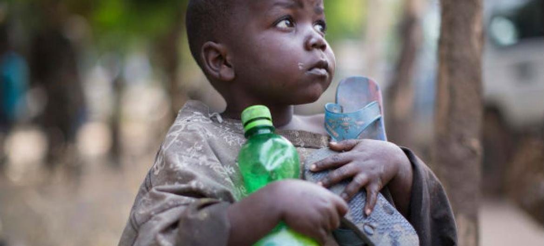 Menino congolês refugiado no Sudão do Sul. Foto: Acnur/Rocco Nuri