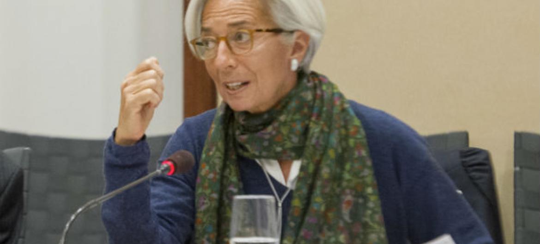 Diretora-gerente do Fundo Monetário Internacional, Christine Lagarde. Foto: ONU/Eskinder Debebe