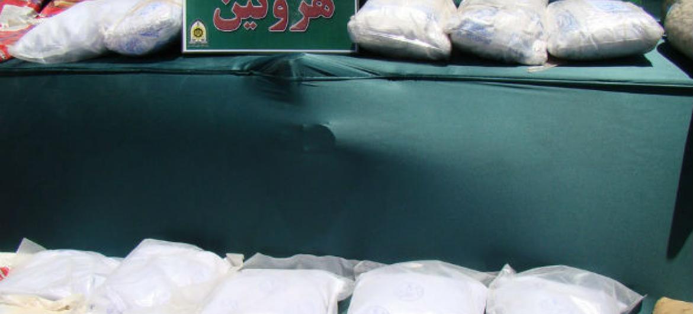 Heroína apreendida no Irão. Foto: Unodc