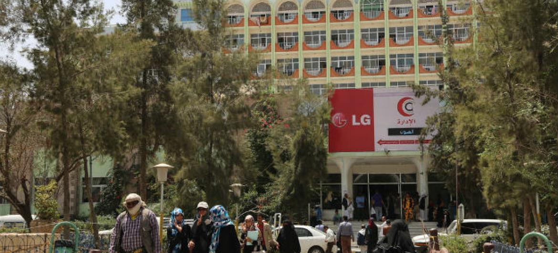 Hospital Joumhouri em Sanaa, Iémen. Foto: OchaCharlotte Cans